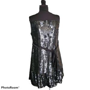 D&G Dolce and Gabbana Black Sequin Cocktail Dress
